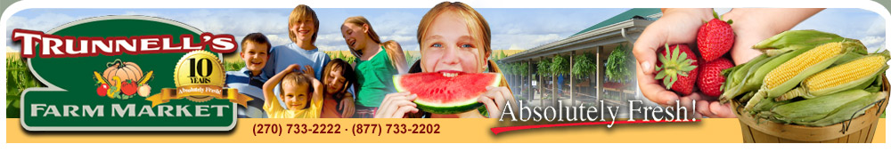 Trunnell's Farm Market & Family Fun Acre | Utica, KY | (270) 733-2222