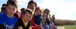 Fall Harvest School Tours - including education, hayrides, plant-your-own seeds, play time, and more