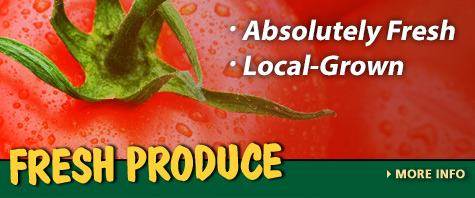 Fresh Kentucky-grown produce - corn, tomatoes, and more