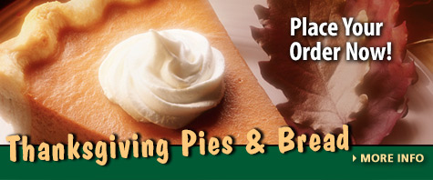 Order Your Thanksgiving Pies & Bread by Nov 26th