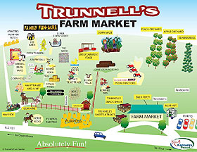 Trunnell's Fun Acre Map